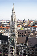 Town Square Prints - New City Hall, Munich Print by Raimund Koch