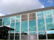 Stainless Steel Prints - New Company Building Print by Yali Shi