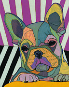 French Bulldog Paintings - New Day by David  Hearn