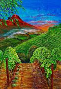 Grape Vineyard Painting Framed Prints - New Day Framed Print by Michael Durst