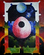 Harold Bascom Fine Art Paintings - New Earth Incubation 2 by Harold Bascom