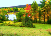 Fall  Of River Digital Art - New England - Norman Rockwell Museum - Housatonic River Area by Steve Ohlsen