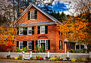 New England Villages Framed Prints - New England Brickhouse Framed Print by Thomas Schoeller