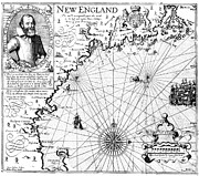 1616 Posters - New England Map, 1616 Poster by Granger