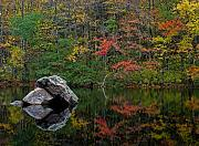 Autumn Landscape Framed Prints - New England Photography Framed Print by Juergen Roth
