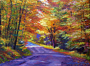 Popular Paintings - New England Roads by David Lloyd Glover