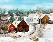 New England Winter Print by Stuart B Yaeger