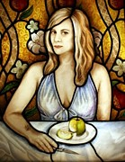 Apple Glass Art - New Eve by Joanna Dover