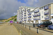 Esplanade Outdoors Posters - New Flats Overlooking Sandown Esplanade Poster by Rod Johnson