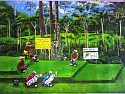 Golfcourse Framed Prints - New golfers in town 2 Framed Print by Muyang Kumundan