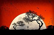 Moon Digital Art Metal Prints - New Growth New Hope Metal Print by Holly Kempe