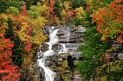 """autumn Foliage New England"" Prints - New Hampshire Waterfall Print by Betty LaRue"