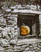 Indiana Autumn Mixed Media Prints - New Harmony Jack Print by Michael Lee Summers