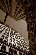 Chicago Photo Prints - New Heights - Wrigley Building - Chicago Print by Dmitriy Margolin