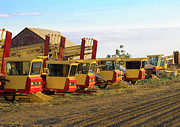 Canon Eos 50d Photos - New Holland Hay Haulers Lincoln Highway Banta CA by Troy Montemayor