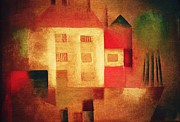 Klee Posters - New House In The Suburbs Poster by Pg Reproductions