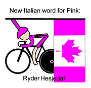 Cycling Originals - New Italian Word for Pink by Asbjorn Lonvig