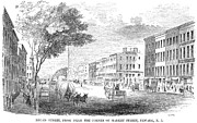 Broad Street - Philadelphia Framed Prints - New Jersey: Newark, 1855 Framed Print by Granger
