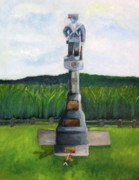 Frederick Painting Originals - New Jersey soldier at Monocacy Battlefield in Frederick md. by Rebecca Jackson