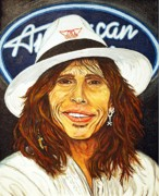 Steven Tyler Aerosmith Prints - New Judge in Town Print by Dean Manemann
