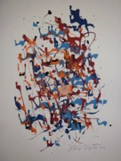 Abstracted Painting Posters - New Life In The Womb Poster by Edward Wolverton