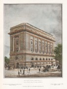 Washington Dc Paintings - New Masonic Temple. Washington DC. 1908 by Wood and Donn and Deming
