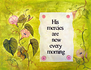 Vellum Prints - New Mercies Print by Carla Parris