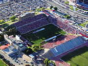 Athletic Framed Prints - New Mexico Aerial View of University Stadium Framed Print by Eagles Eye Photo