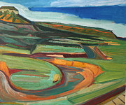 Diebenkorn Paintings - New Mexico Arizona State Line by Chris  Easley