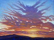 Clouds Sunset Painting Prints - New Mexico Print by Brian  Commerford