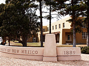Albuquerque Framed Prints - New Mexico Campus Sign Framed Print by Rob Goldberg