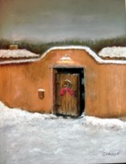 Adobe Pastels Prints - New Mexico Christmas Print by John De Young