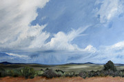 Wyoming Paintings - New Mexico Desert by Cristin Paige
