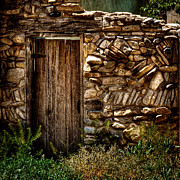 Wall Stone Wall Framed Prints - New Mexico Door II Framed Print by David Patterson