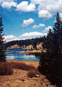 Linda Pope Prints - New Mexico Lake Print by Linda Pope