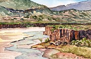 Riverbed Paintings - New Mexico Riverbed by Gurukirn Khalsa
