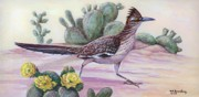 Roadrunner Paintings - New Mexico Roadrunner by Ed Breeding
