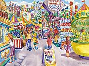 Plain Air Paintings - New Mexico State Fair Expo by John Rose