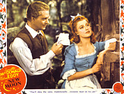 Lobbycard Prints - New Moon, Nelson Eddy, Jeanette Print by Everett