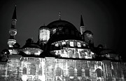 Old And New Prints - New Mosque at Night Print by John Rizzuto