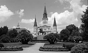 Clocktower Prints - New Orleans - Jackson Square Print by Frank Romeo