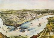 Riverboat Framed Prints - New Orleans, 1851 Framed Print by Granger