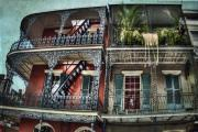 French Door Prints - New Orleans Balconies No. 4 Print by Tammy Wetzel