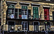 French Doors Metal Prints - New Orleans Balcony Metal Print by Cecil Fuselier