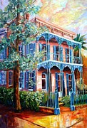 Garden Scene Paintings - New Orleans Garden District by Diane Millsap