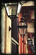 Gas Lamp Framed Prints - New Orleans Gas Lamps Framed Print by Jarrod Erbe