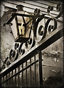 Gaslight Framed Prints - New Orleans Gaslight Framed Print by Bronze Riser
