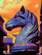 Horse Head Digital Art - New Orleans Hitching Post by L S Keely