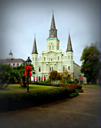 Historic Statue Prints - New Orleans Holiday Print by Perry Webster