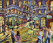For Musicians Paintings - New Orleans Jazz Night by Prankearts Fine Art by Richard T Pranke